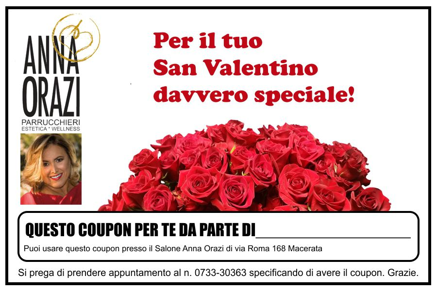 Coupon Speciale San Valentino!